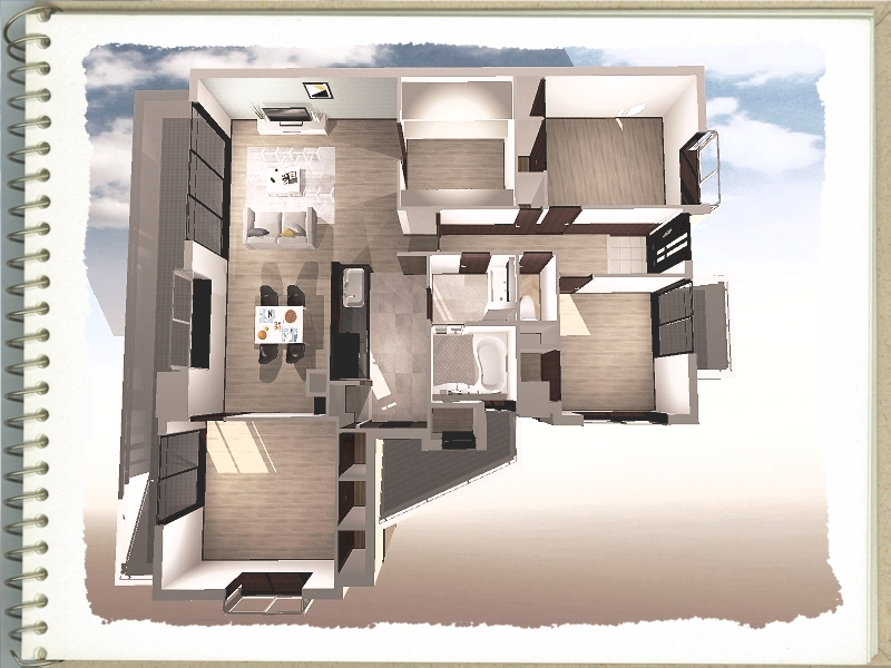 全面改装、おしゃれ、腰壁、デザイン、ホテルライク